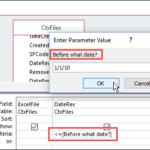 Access Query Date Criteria Examples