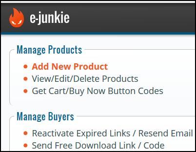E-Junkie Admin Dashboard