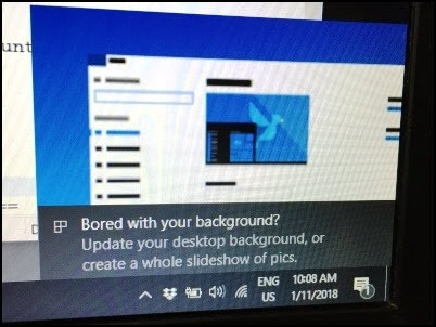 Windows 10 Bored with your background